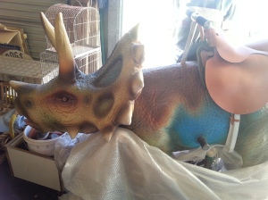 The triceratops is still under wraps