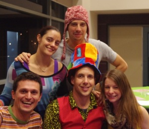 Some of the colourful characters at the launch party