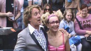 Dave and Tamara performing at the Edinburgh Fringe Festival