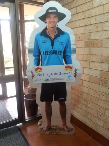 Lifeguard Larry will be popping up with his message all over town