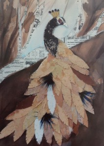 A mixed media work by Karen Wright