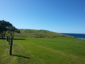The house will dominate this view from Gerringong Golf Course