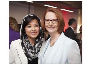 Najeeba with former Prime Minister Julia Gillard