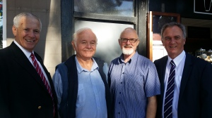 Mayor Brian Petschler, Keep Kiama Council Local chair Rob McKinnon, KCCL's Peter O'Neill and General Manager Michael Forsyth