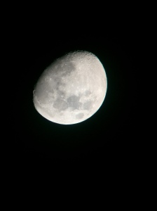 A photo of the moon taken by a phone