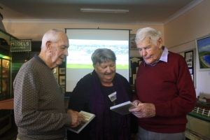 Colin Sharpe, Helen McDermott and Ken Miller at the launch