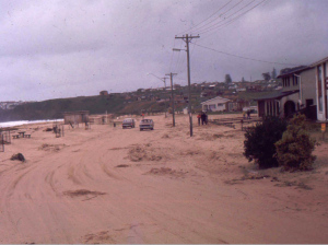 Aftermath of the 1974 storm surge at Jones Beach